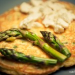 Pancakes agli asparagi e ricotta fresca