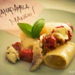 #iolamafiamelamangio – Paccheri con pomodorini, gallinella e bagnetto verde