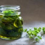 Conservare il basilico sott'olio, nel barattolo