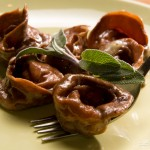 Tortelli al cacao con ripieno di zucca