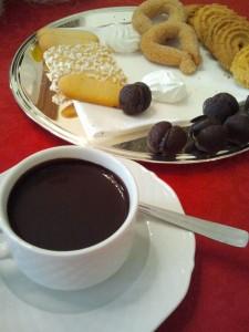 La cioccolata calda con i bagnati