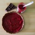 Crostata al cioccolato con marmellata di lamponi